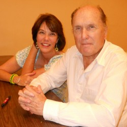 Laura with actor Robert Duvall