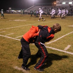 Cedartown ball boys find ways to stay entertained. (Gail Conner/ camerachik.com)