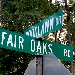 Fair Oaks Rd sign