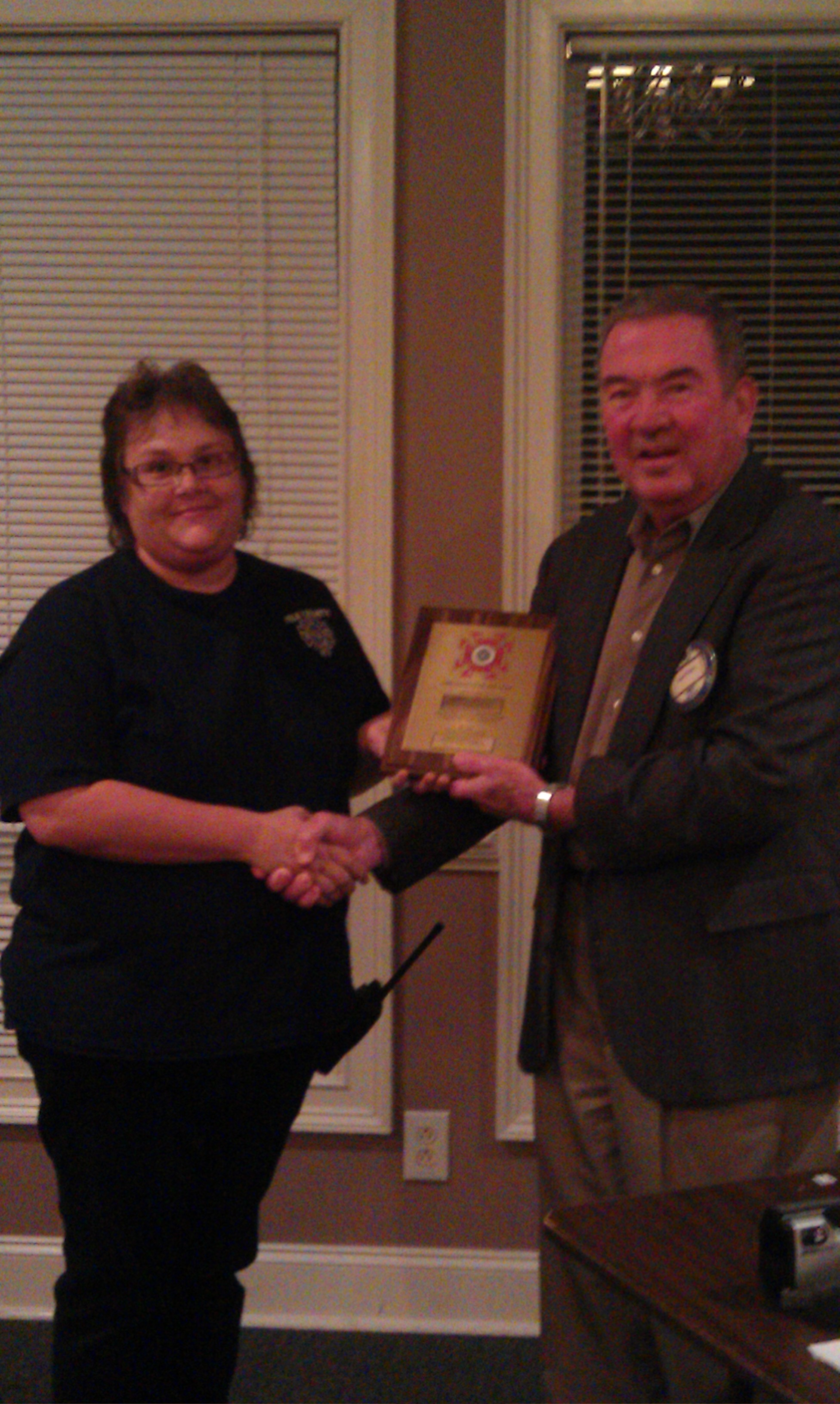 Susan Jackson Fireman of the Year