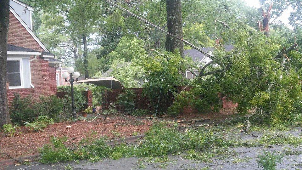 Storm damage 090315